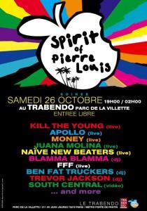 Spirit of Pierre-Louis le 26 octobre au Trabendo