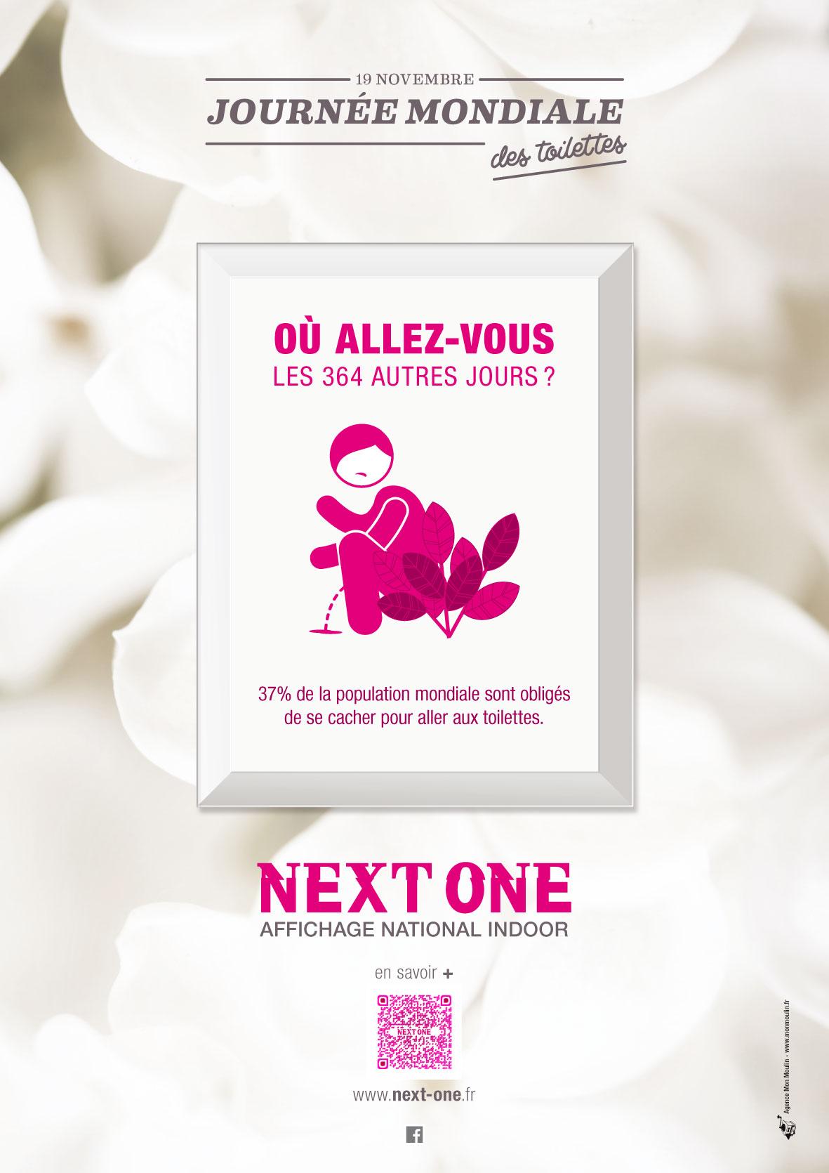 Un visuel de la campagne Next One pour la Journée Mondiale des Toilettes