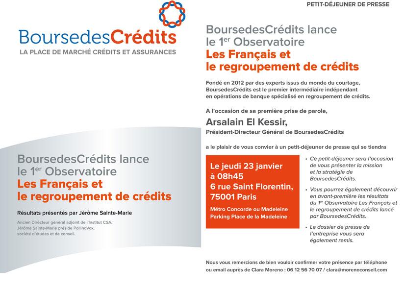 BoursedesCrédits lance le 1er Observatoire Les Français et le regroupement de Crédits