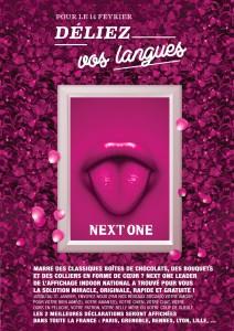 """L'opé """"Pour le 14 février, déliez vos langues"""" de Next One à l'occasion de la Saint-Valentin"""