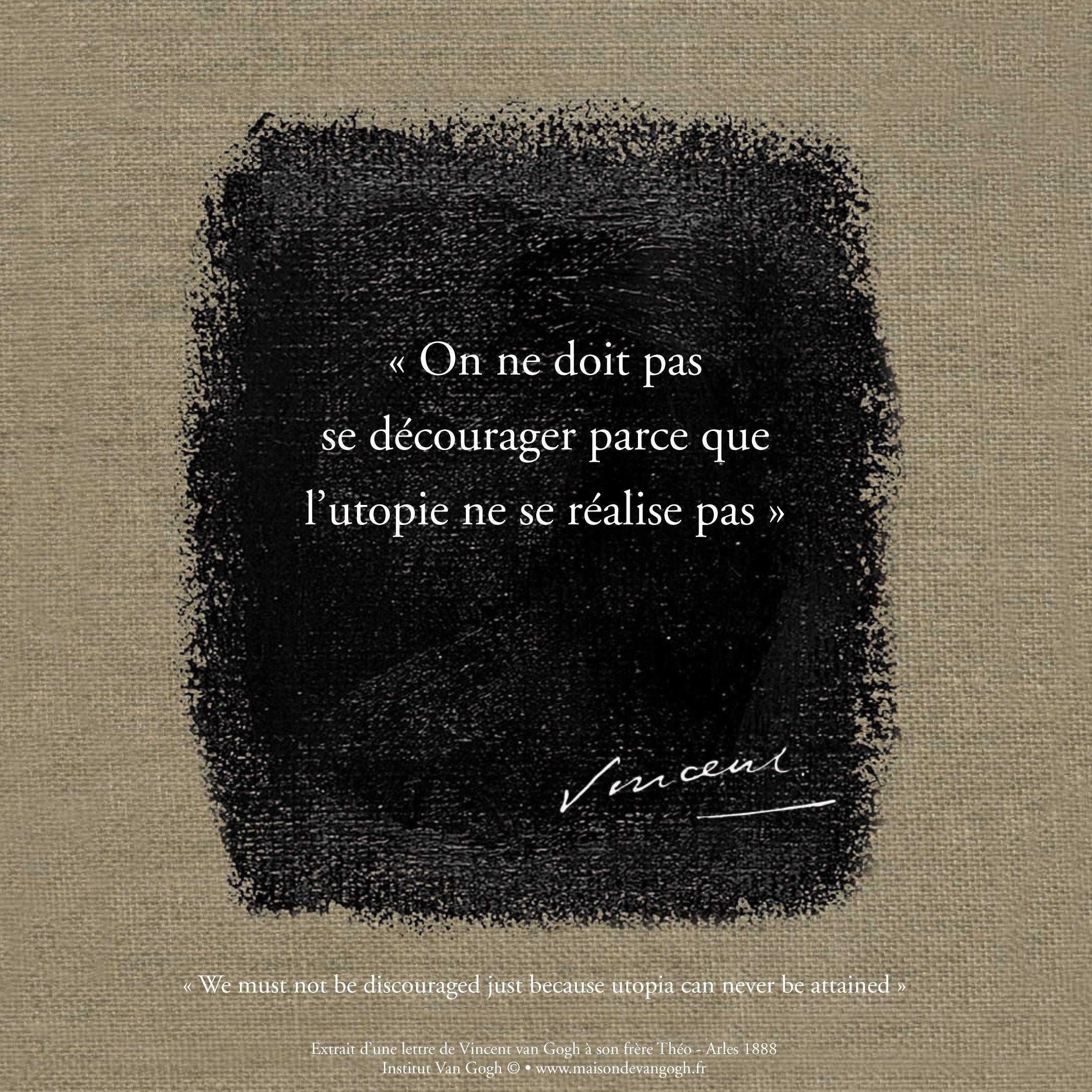 Citation Vincent Van Gogh
