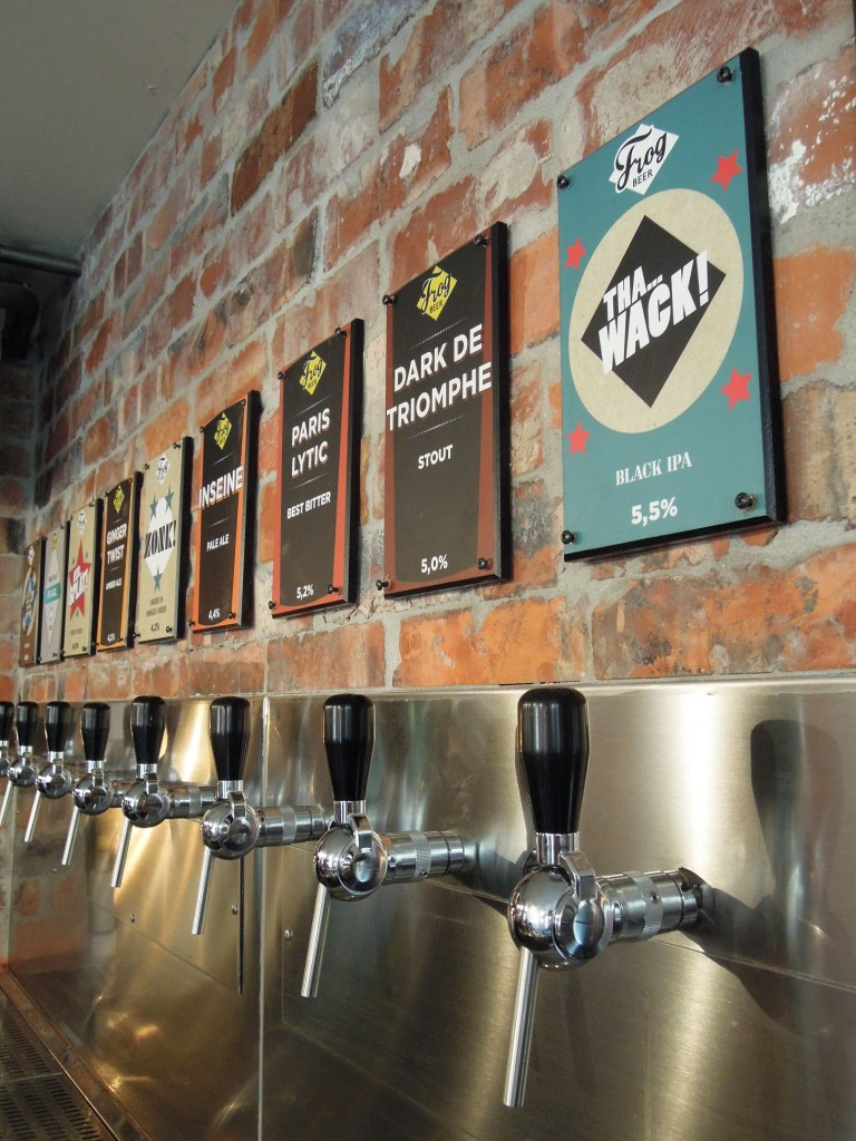 Le mur de bières du Frog Revolution