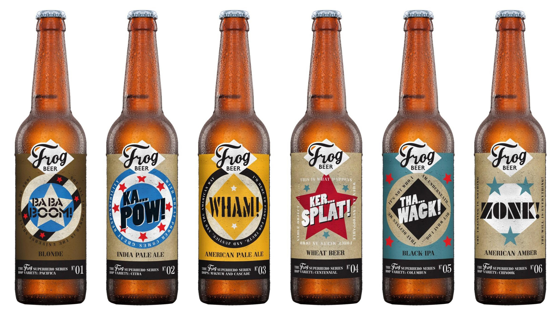 la série de bières US Superhero de FrogBeer