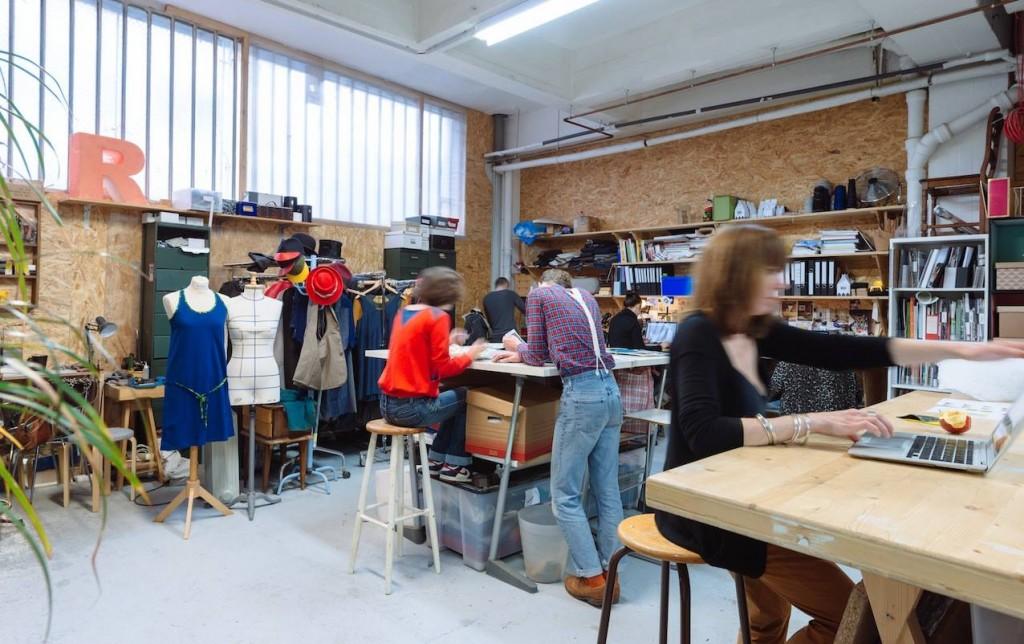 L'atelier textile chez ICI Montreuil (crédit photo : Julien Dominguez)