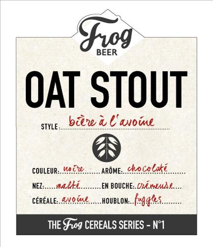 L'Oat Stout, première référence de la Cereals Series de FrogBeer, sera lancée sur Planète Bière
