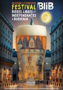 L'affiche de l'édition 2016 de BliB, Bières libres et indépendantes à Bordeaux