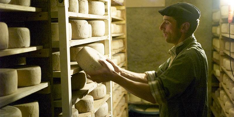 Route du fromage AOP Ossau-Iraty : La cave d'affinage de Beñat Erbin, producteur de fromage (cliquez sur l'image pour obtenir la HD – Crédit : Beñat Erbin)