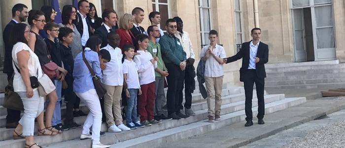CityZen Mobility a accompagné le groupe d'enfants autistes invités par Brigitte et Emmanuelle Macron