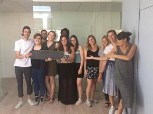 L'équipe de PADIT, gagnante du startup challenge Audacity Week, de l'ISCOM Paris a conçu un skateboard connecté