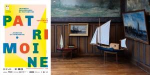 Le bateau-atelier de Daubigny reconstruit à l'identique à l'occasion des Journées Européennes du Patrimoine 2017 à Auvers-sur-Oise