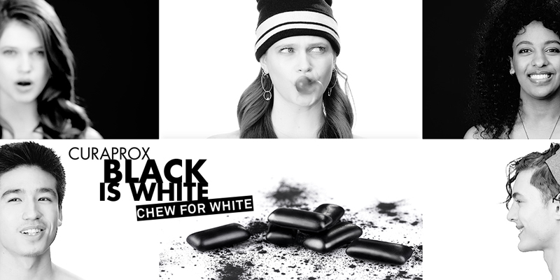 """Black is White"" de Curaprox"