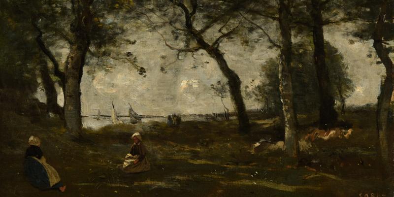 Camille Corot, Honfleur, Huile sur toile, Musée des Beaux-arts de Reims ©Devleeschauwer