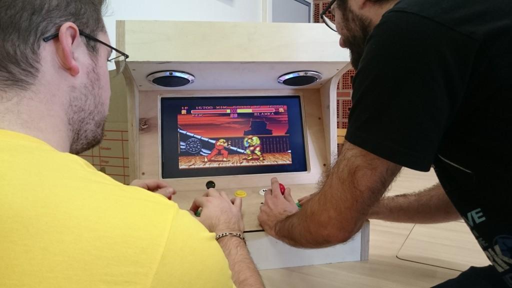Une borne d'arcade créée chez ICI Montreuil (crédit : ICI Montreuil)