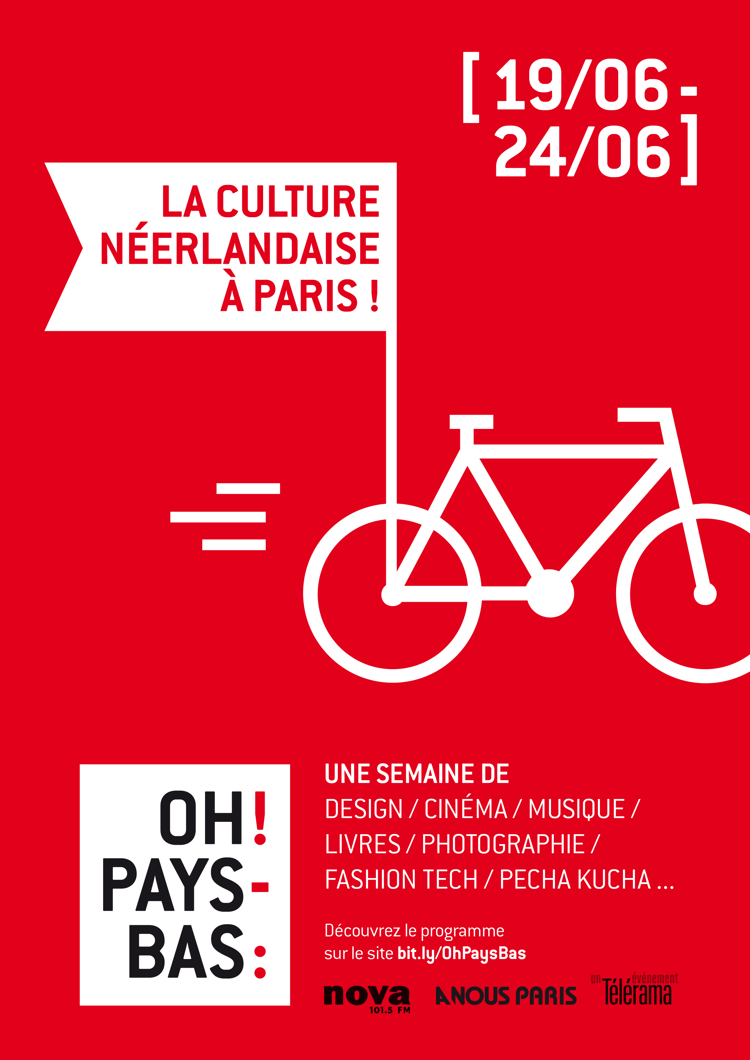 Affiche du festival culturel Oh! Pays-Bas