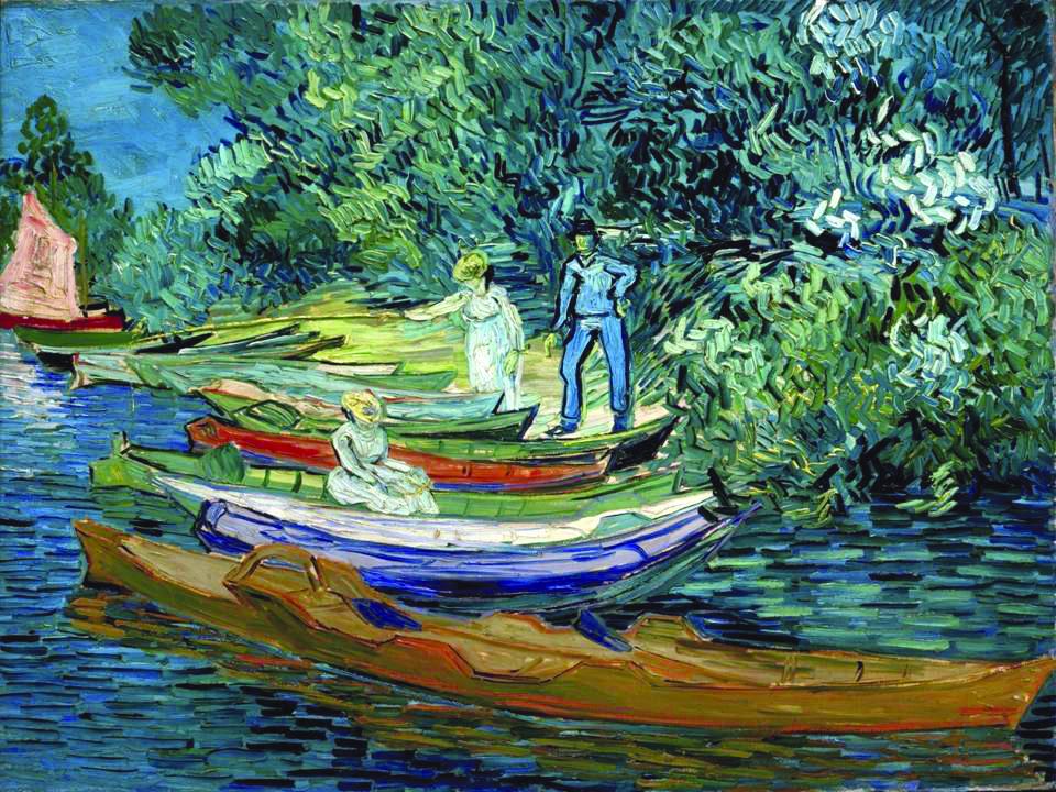 Van Gogh - Barques et figures au bord de l'oise - 1890