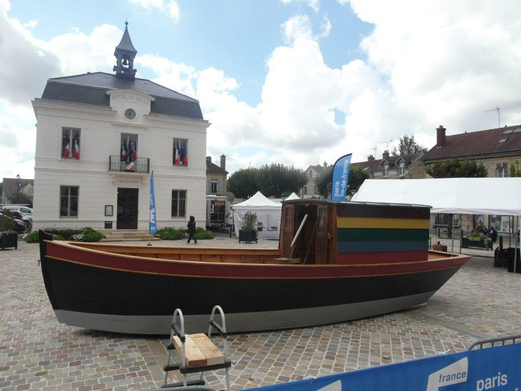 Le Botin, reconstitution du bateau-atelier de Charles François Daubigny