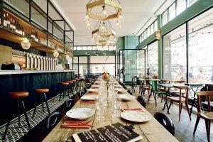 Café Bâle, Design Atelier NoMa, Fabrication Boys in the Wood – crédit Atelier NoMa