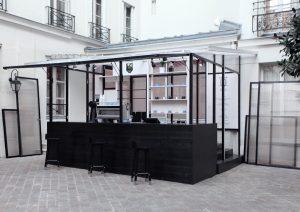 Café Honor, Design Studio Dessuant Bone, Fabrication Boys in the Wood – crédit Studio Dessuant Bone
