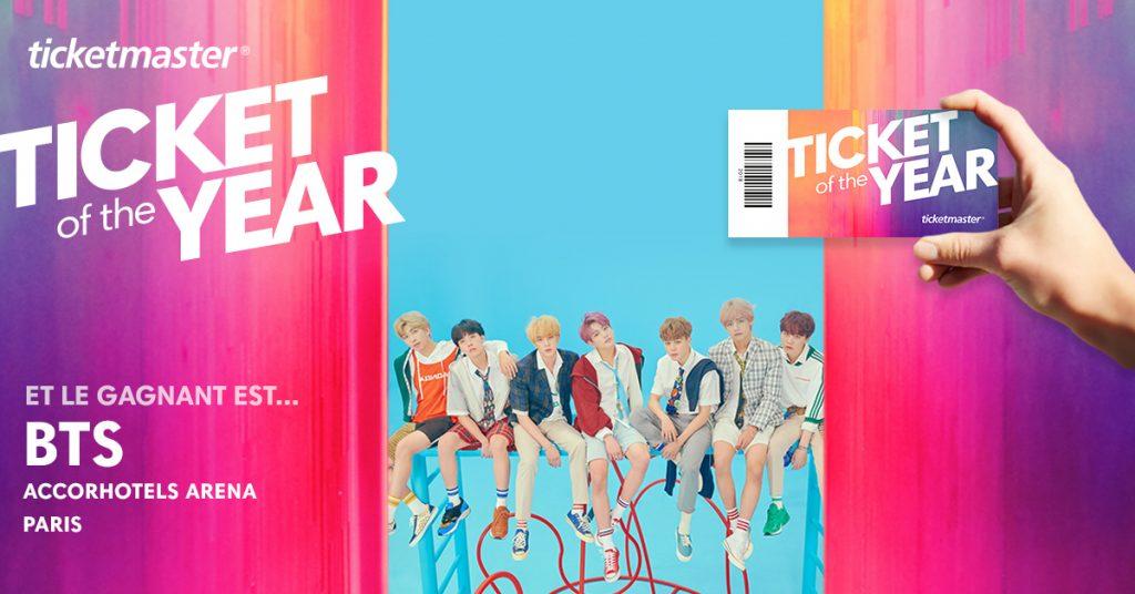 Ticketmaster : Le boys band coréen BTS élu Ticket of the Year 2018