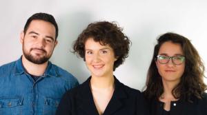 Agence de design La Racine - Tiphaine Chouillet entourée de Benjamin Lasserre et Tania Clémente