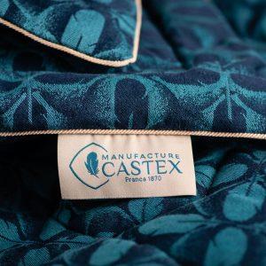 Pour les 150 ans de la Manufacture Castex, le studio de design La Racine conçoit une collection capsule de couettes et édredons